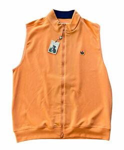 NWT DONALD ROSS COLLECTION Mens L Performance Fleece Vest Olde Farm Golf Logo