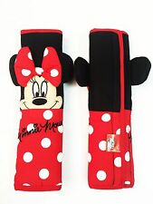 Minnie Mouse Disney Car Accessory #Red : 2 pieces Seat Belt Shoulder Pads Covers