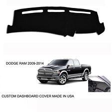 New Dodge Ram 1500 2500 Truck Custom Black Dashboard Dash Cover 2009-2014
