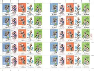 uaz08 Mexico 2005 Sc#2450 Mc#3137-41 Memin Pinguin controversial stamp sheet