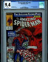 Amazing Spiderman #325 CGC 9.4 NM Marvel Comics Todd McFarlane 1989 K22