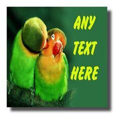 Pájaros del amor Personalizado bebidas Mat Coaster