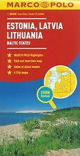 Marco Polo Estonia, Latvia, Lithuania Map *FREE SHIPPING - NEW*