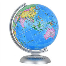 "8"" Illuminated World Globe Up-to-date W/ Stand Built-in Led Night View Kids New"