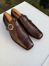 Men's CESARE PACIOTTI 100% Leather Dark Brown Monk Strap Shoes UK 7.5 C (41.5).