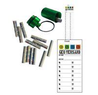 10x Logstreifen Geocaching Logbuch Tube alu metall Micro mini logbücher