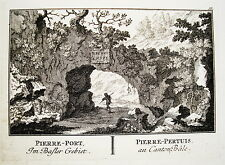 Pierre-Pertuis Pass Sonceboz-Tavannes Schweiz Kupferstich von Herrliberger 1758