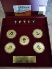 RARE 2008 Beijing Olympics L Edition Mascot Gold Coin Set Collection SET NEW W/B