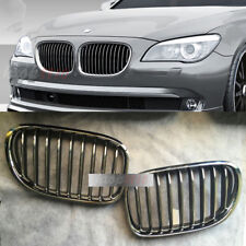 2 Pcs Front Grille Grill  For 13-15 BMW 7-Series F01 F02 730 740 750 760Li