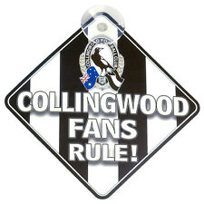 AFL Collingwood Magpies CAR SIGN - Footy Fans Aussie Rules - Post tracking