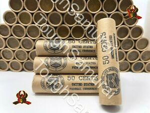 Vintage Stamped Lincoln Wheat Penny Roll - 50 Cent Lot of PDS 1909-1958 US Coins