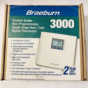 Braeburn 3000 Non-Programmable Thermostat open box