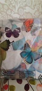 Butterfly design double bed duvet set