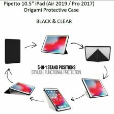 """Pipetto Luxe 10.5"""" iPad Protective TPU Case (Air 2019 / Pro 2017) - Black/Clear"""