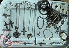 Cross+Pendant+Necklaces+Silver%2FGold+Tone+Rhinestones+Religious+Jewelry+Lot+++++B