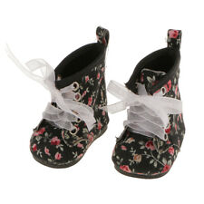 """Pair Flat Floral Boots Shoes for 18""""  Girl Gotz My Life Journey Doll"""