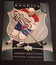 ANDREI KOSTITSYN  2005-06 UD Artifacts ROOKIE Card SP #292 Ser #d /750 CANADIENS