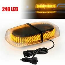 New 240LED 24W Roof Emergency Beacon Hazard Flash Strobe Mini Light Bar Amber