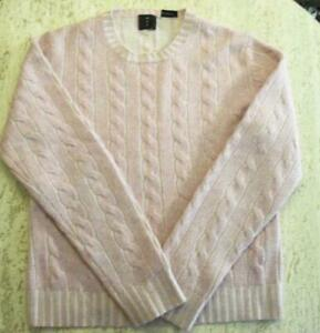 WOMEN'S MAG MAGASCHONI 100% CASHMERE PULLOVER CABLE KNIT SWEATER LAVENDER SZ L