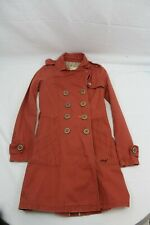 Billabong Trench Coat Women's Size M Orange