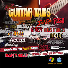 LEARN HARD ROCK Metal Guitar Lessons Tablature Tab Software OVER 1000 SONGS