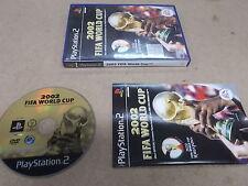 PS2 juego de Playstation 2 PAL Copa del Mundo FIFA 2002 CON CAJA INSTRUCCIONES