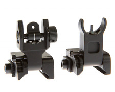 Tactical Flip Up Backup Battle Iron Sights Co-Witness - Front and Rear
