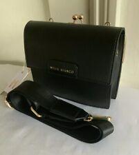 Melie Bianco Black Crossbody Bag With Detachable Shoulder Strap-New