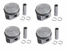 "VW Beetle Golf Set of 4 Engine Piston w/ Rings Mahle 06A107071J .010"" .25mm O/S"