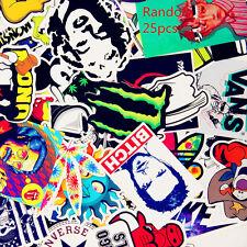 Random 25pcs Skateboard Vintage Vinyl Laptop Luggage Car Decals Dope Sticker lot