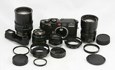 Leitz Leica M6 vintage 35mm camera & 4 Leitz lenses: 35, 50, 90, 135 mm & extras
