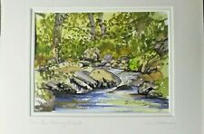 Tim Moloney The Babbling Brook Signed & Matted