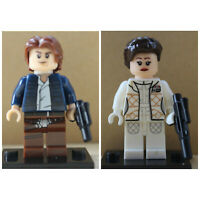 Star Wars Film Toys Han Solo Princess Leia Jedi Mini Figures Use With lego sets