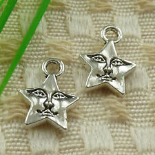 360pcs tibetan silver star charms 15x11mm #4632