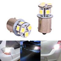 BA15S R5W 1156 5050 8SMD LED Car Tail Brake Parking Stop Light bulb White x2