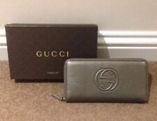 Gucci Leather Zip-Around Women's Purses & Wallets