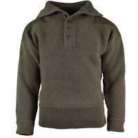 Original Austrian Army Alpine Pullover Knit sweater Olive OD Wool NEW