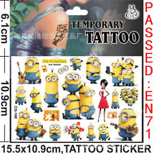 The MINIONS Temporary Tattoo Sheet Boy Girl Birthday Party Bag Loot bag Filler