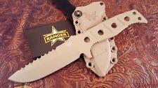 "NEW Benchmade 375SN Adamas Fixed Knife 4.2"" SAND D2 Plain Blade Serrated Top"