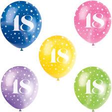 10 Luftballons 18th Geburtstag Jubiläum 30cm 2932