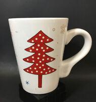California Pantry Christmas Holiday Coffee Mug White Red Ceramic