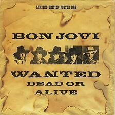 Bon Jovi Wanted Dead or Alive,Shot Through The Heart,Social Disease POSTER 12""