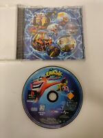 Crash Bandicoot Warped - PS1 - Case Disc & Good Condition  black label