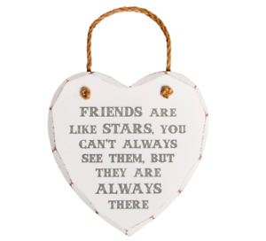 Sass & Belle Friends Are Like Stars Wooden Heart Wall Hanging Plaque Sign