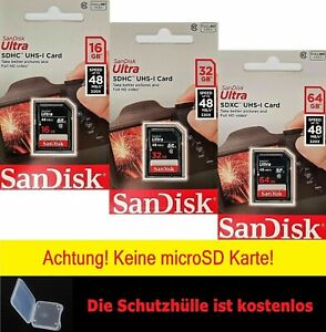 Sandisk Ultra SD SDHC SDXC 16GB 32GB 64GB UHS-1 class 10 Sandisk SD SDHC Karte