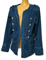 TS TAKING SHAPE plus size S / 16 Majestic Denim Jacket stretch mid-blue NWT!