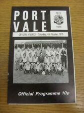 04/10/1975 Port Vale v Crystal Palace  (Staples Removed). Thanks for viewing thi