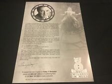 Wicked The Musical London BBC Children In Need Programme A4 Sheet Very Rare