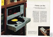 Publicité advertising 1983 (2 pages) Chaine Hi-Fi Platine Akai