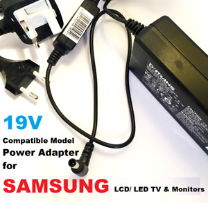 "19V Adapter for Samsung 32"" Class J5205 J5003 22"" H5000  Monitor/TV"